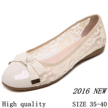 Soft Shoes Female 2016 High quality Cow Muscle soles Women Flat Shoes Summer style Round Toe Casual Ballet Flats Plus Size 35-40