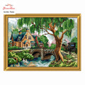 Needlework,DIY DMC Cross stitch,Sets For Embroidery kits,House flowers Bridges Patterns Counted Cross-Stitching,Wall Home Decor