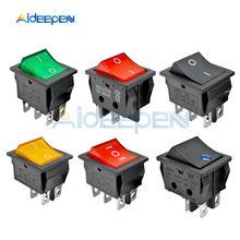 KCD4 кулисный выключатель питания 2 положения/3 положения 4 контакта 6 контактов электрооборудование с выключателем светильник 16A 250VAC/20A 125VAC