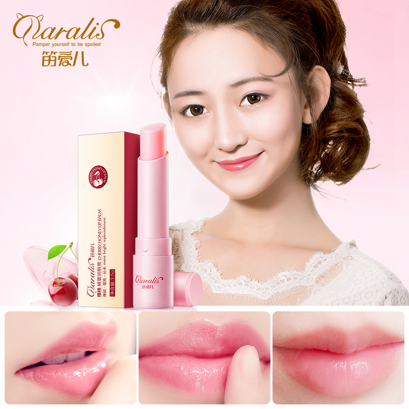 Daralis Cherry Honey Lip Plumper Moisturizing Lip Balm Colorless Refine Repair Lip Wrinkles For Woman Winter Lip Care baby lips image