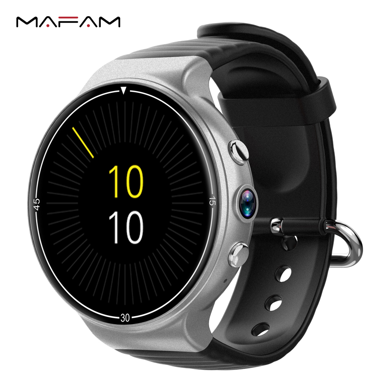 MAFAM Smartwatch 4G WIFI GPS 1GB+16GB SIM Card Bluetooth 400*400 AMOLED Watch Heart Rate Monitor I8 Smart Watch For IOS Android