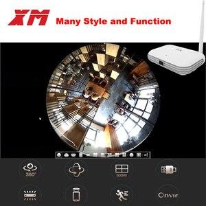 Image 2 - XM JPN1 W 5MP/4MP/3MP 360 درجة بانورامية VR 4CH الذكية واي فاي كاميرا صغيرة NVR دعم ONVIF P2P شبكة لاسلكية IP
