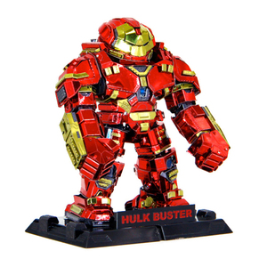 Color Hulk Buster 3d Metal Model Puzzle Laser Cut Manual Jigsaw Kits Adults Action Figures Collection Educational Toys Hobbies(China)