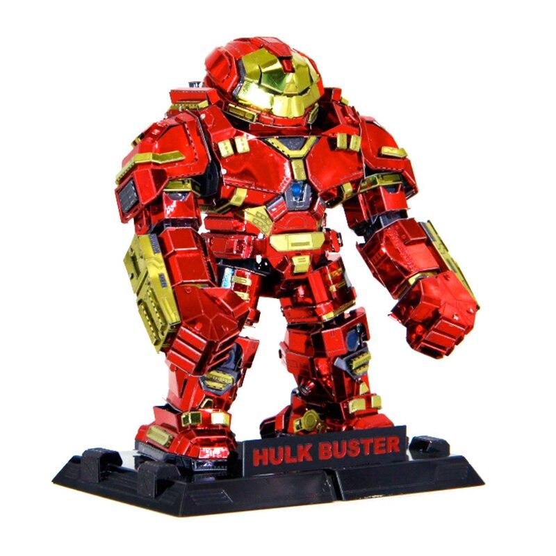 cor hulk buster 3d metal modelo quebra cabeca corte a laser manual kits adultos figuras de