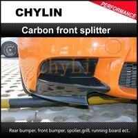 Carbon Fiber E92 M TECH Front Bumper Lip Kits Splitter For BMW E92 P style E92 Front Bumper Splitter