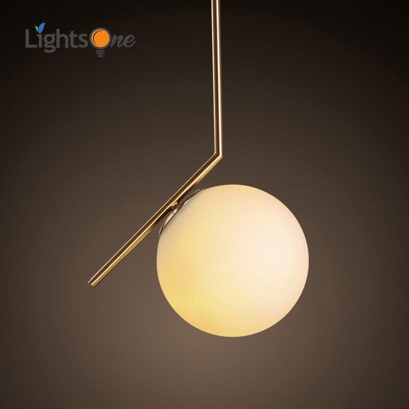 Современный стиль гостиная, спальня минималистский Ресторан подвеска свет Nordic украшения одежды стеклянный шар подвесной светильник