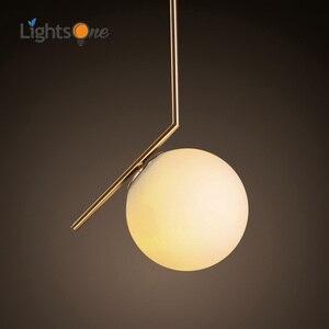 Image 1 - Modern style living room bedroom minimalist restaurant  pendant light Nordic clothing decoration glass ball pendant lamp