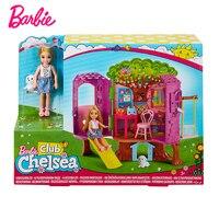 Original Barbie Doll Princess Kelly Tree House Gift Box Set Barbie Girl Dress Fashion Toy Birthday Christmas Gift FPF83