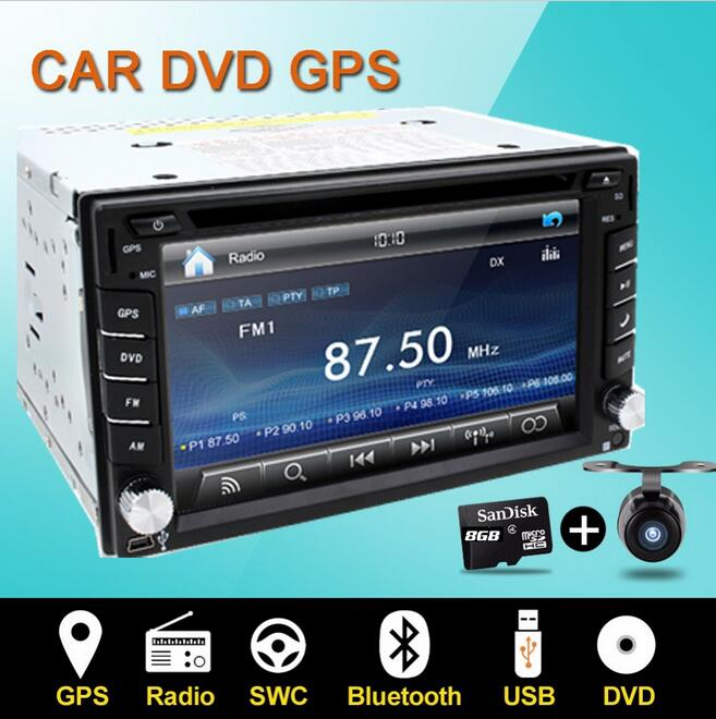 Steering wheel Auto 2din car dvd player Radio GPS PC Video Camera Monitor For universal RDS Blutooth digital tv (option) Cam free shipping 7 android 6 0 car radio for chevrolet cruze daewoo lacetti car dvd player with steering wheel gps bluetooth