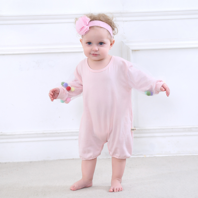Spring Baby Girls Romper Newborn Clothes 100% Cotton Underwear Outfits Long Sleeves Infant Girl Jumpsuit Baby Outerwear puseky 2017 infant romper baby boys girls jumpsuit newborn bebe clothing hooded toddler baby clothes cute panda romper costumes