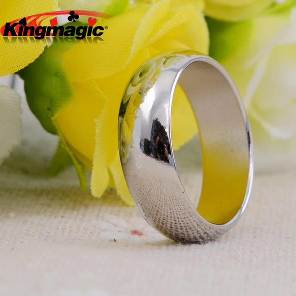 Silver Cambered PK Ring Magnetisk Ring PK Ring Magic Visa Magic Props Magic Tricks