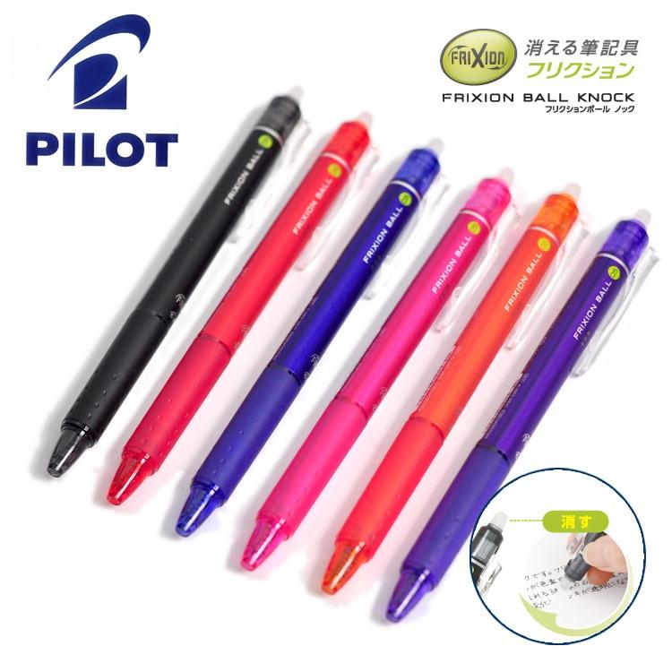 Japan PILOT Gel Pen LFBK-23EF Gel Pen 0.5mm Erasable Pen Color Gel Pen 10 Color Choose 2pcs lot baile pilot lkfb 60ef three color multifunctional erasable pen 0 5mm