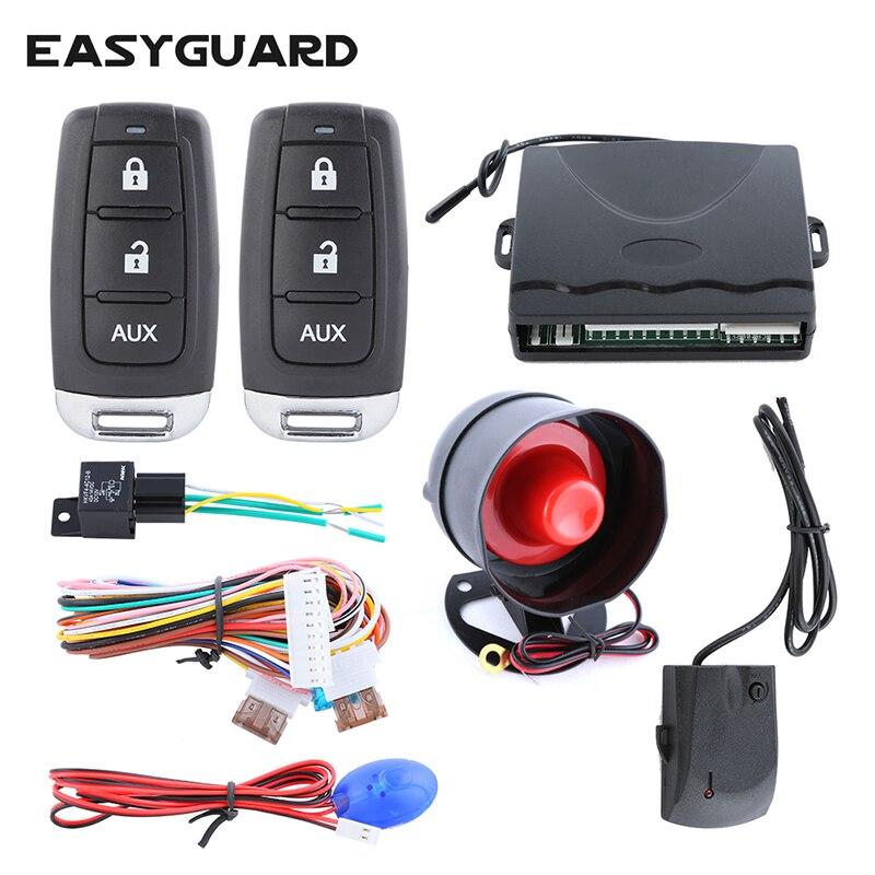 Système d'alarme de voiture universel avec entrée sans clé verrouillage central de la porte verrouillage à distance déverrouillage déverrouillage du coffre à distance