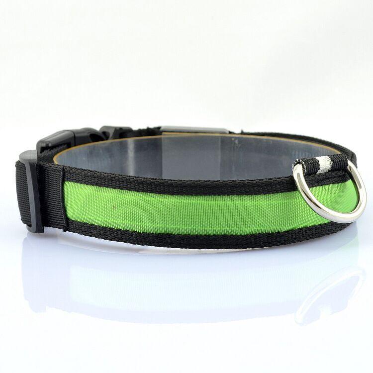 D06 naminių gyvūnėlių šunų apykaklės LED šviesos nailono - Naminių gyvūnėlių produktai - Nuotrauka 6