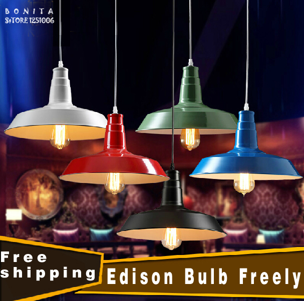 D26/36cm Loft cafe vintage pendant lights Industrial wind retro pendant lamp Antique droplight iron Edison hanging lights vintage edison chandelier rusty lampshade american industrial retro iron pendant lights cafe bar clothing store ceiling lamp