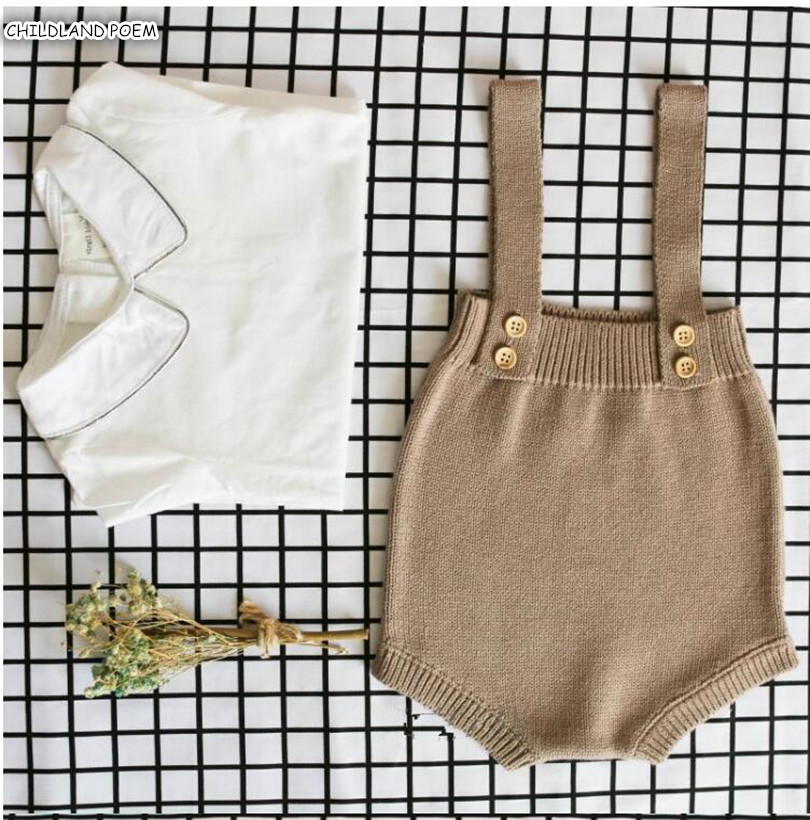 Baby Boy   Romper   Knitted Newborn Baby Clothes Cotton Sleeveless Baby Jumpsuit Overalls Infant Baby   Romper   For Boy Girl Jumspuit