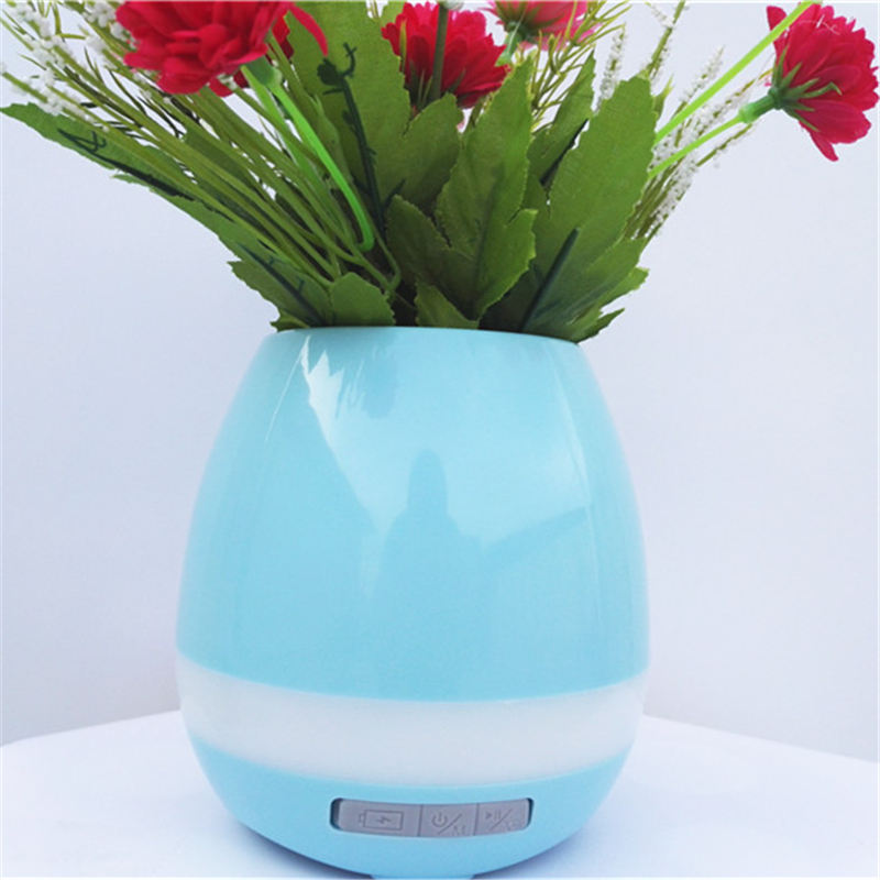 Aritificial Silk Flower Led Bluetooth Music Vase Artificial Plant