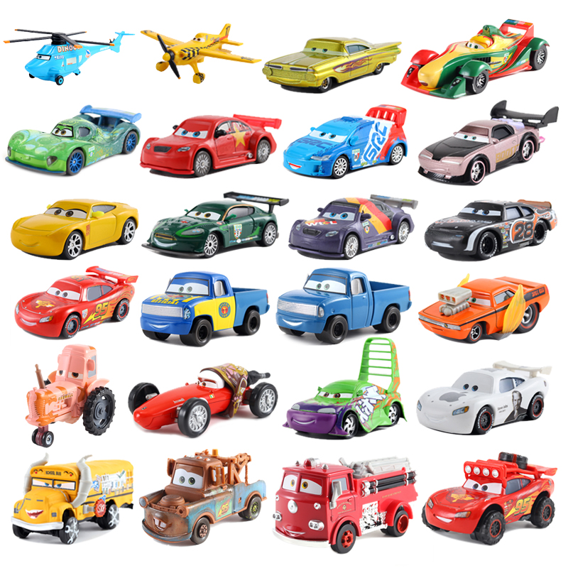 Toys & Hobbies Generous 1:55 Disney Pixar Cars Diecast Car Model Lightning Mcqueen The King Jackson Storm Metal Car Toy Boy Christmas Birthday Gift