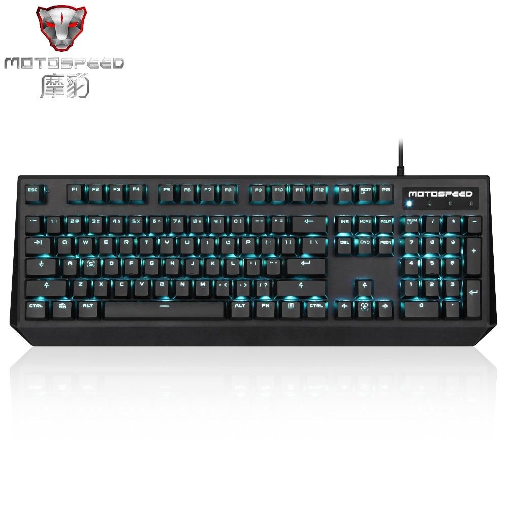 2019 Motospeed CK95 Mechanical Keyboard 104 keys Blue Red Switch Russian LED Backlit PUBG Gaming Keyboard
