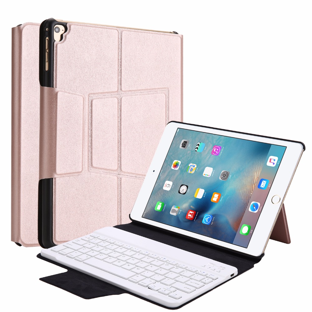 все цены на Kemile Wireless Bluetooth Aluminum Alloy Keyboard for iPad air 2 Smart Case Cover for New iPad 9.7 2017 with Stand Keypad онлайн