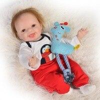 interactive Reborn Baby Doll 55cm Silicone Vinyl Real Touch smooth Newborn 55cm boy bebes reborn girl toys bonecas DOLLMAI gift