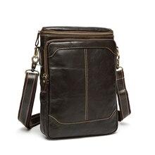 100% Guarantee Genuine Leather Bag High quality Natural Cowskin mini men messenger bags Vintage shoulder crossbody bag #VP-L8003