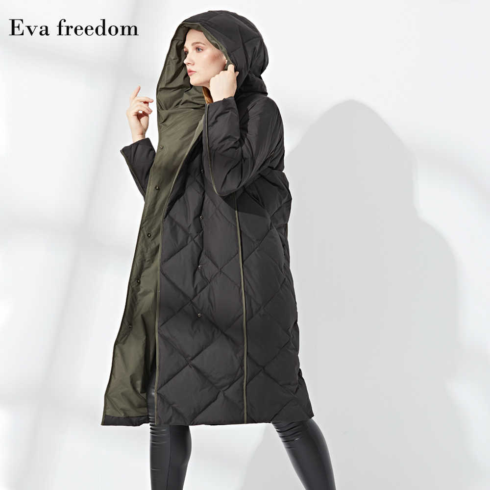 2019 модное длинное пальто с новым рисунком, теплое одноцветное женское пуховое пальто с капюшоном, куртка