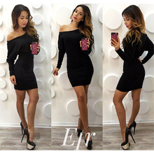 Sexy Knitted Midi Off Shoulder Sleeve Dress for Crossdressers & Shemales