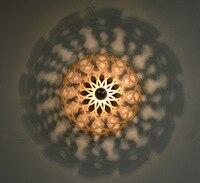 Moderno e minimalista sala de estar lâmpada do teto corredor varanda iluminação madeira maciça carvalho bud conduziu a lâmpada parede