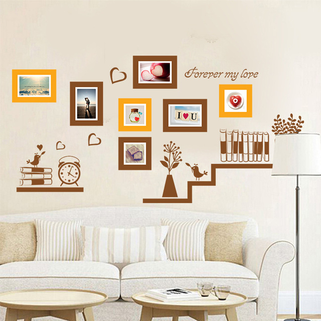 Gut Bücherregal Bilderrahmen Muster Wandaufkleber Schlafzimmer Studie Kinderzimmer  Dekoration Aufkleber