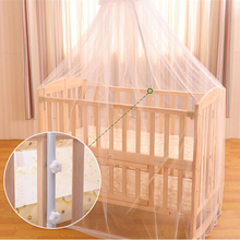 Hot New Summer Baby Bed Mosquito Net Baby Toddler Baby Bed Crib Canopy Netting White(China)