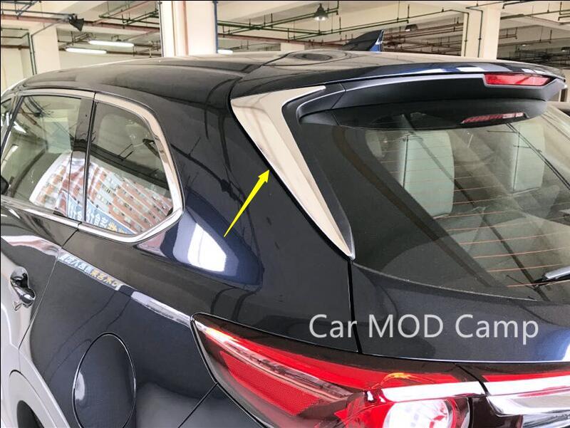 For Mazda CX-9 CX9 2016 2017 2018 ABS Chrome Rear Window Side Triangle Corner Cover Decoration Trim 2pcs Car Styling Accessories car auto accessories rear trunk molding lid cover trim rear trunk trim for nissan sunny versa 2011 abs chrome 1pc per set