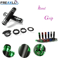 FREAXLL Rubber&Carbon Fiber 7/8 CNC Universal Motorcycle Handle CAPS/Handlebar Grips CNC 22MM Street & Racing Moto Racing Grips