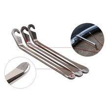 Комплект из 3 предметов из Нержавеющей Стали Изогнутый шин Рычаг для ремонта велосипеда Инструменты для ремонта велосипедов инструмент для ремонта шин 6,5 мм A17
