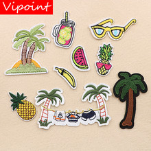 VIPOINT embroidery fruits patches trees badges applique for clothing XW-35