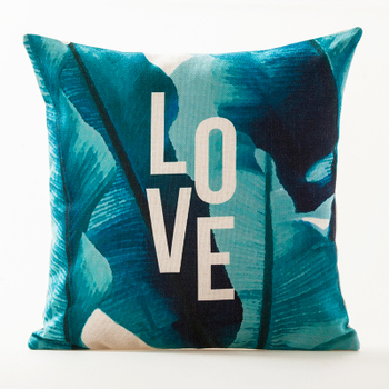 Love leaves Cushion Cover