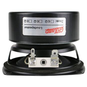 GHXAMP 3 inch Woofer Subwoofer Speaker 4ohm 25W Hifi Square Bass Speaker Black Alumina Ceramic Cap Rubber Edge 2pcs 4