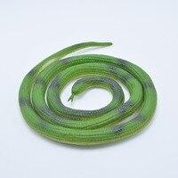 Halloween Realistic Soft Rubber Snake Fake Animal Model 105CM Garden Props Joke Prank Gift Gags Practical