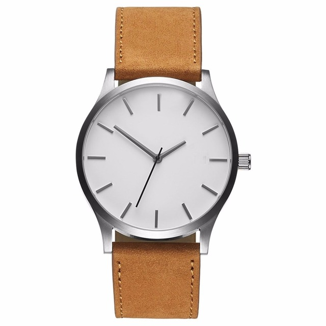 Men's Quartz Leather Band Wristwatches