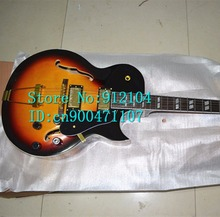 free shipping customized new Big John hollow electric guitar in sunburst for jazz music made in China F-1008