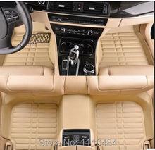 La reserva anticipada personalizar = marca + modelo + lanzado año coche tapetes alfombras pie estera auto alfombra del automóvil de cuero tendencia universal