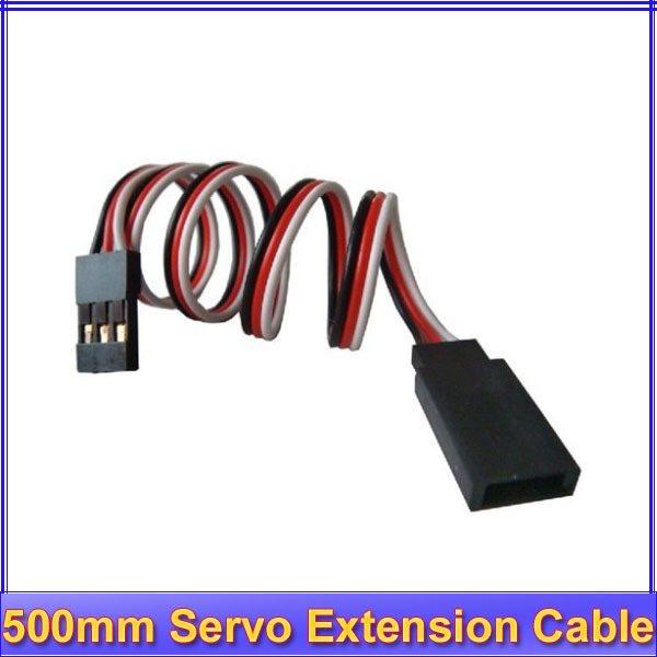 20pcs/lot 500mm Servo Extension Lead Wire Cable For Futaba JR  + free shipping