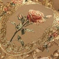 New luxury European golden floral wallpaper Luxury Rose flowers background wallpaper For bedroom 3D Gold foil Wall Paper mural