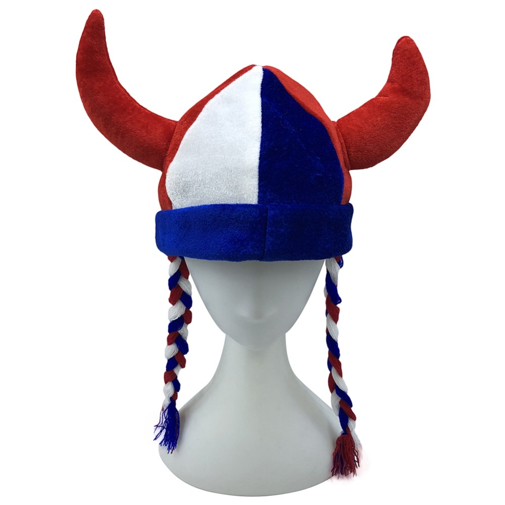 Halloween Fancy cool hat children adult bull head horn Clown Hat party christmas hat Twisted braid cap