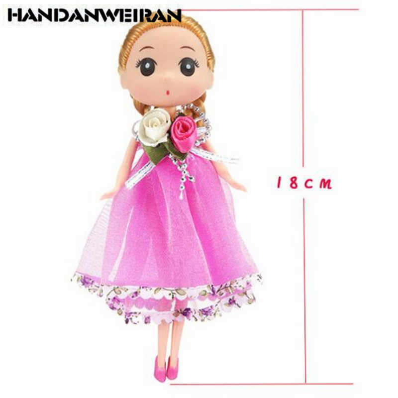 1PCS Cute Cartoon Confused Doll Toy Children Wedding Girl Silicone Toys Wholesale High Quality Hot Sale Dolls Toys 2019 New 18CM