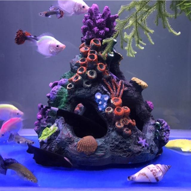 Artificial Coral Reef Cave Aquarium Decoration Fish Tank Hollow Rock