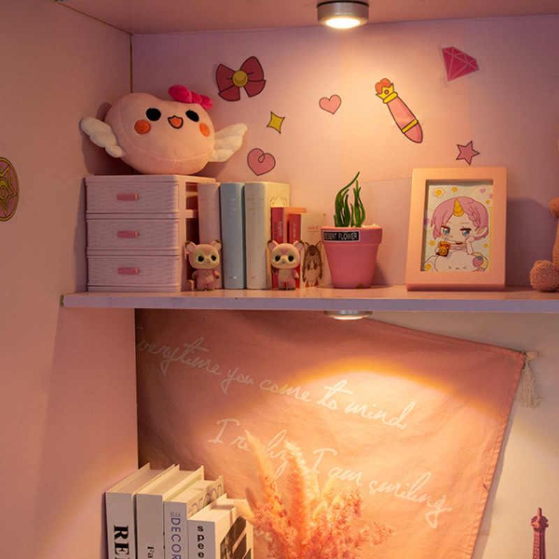 3 светодиодный настенный Ночной светильник оптом, освещение для шкафа, стикер для шкафа, сенсорный светильник, небольшой кухонный шкаф освещение для шкафа