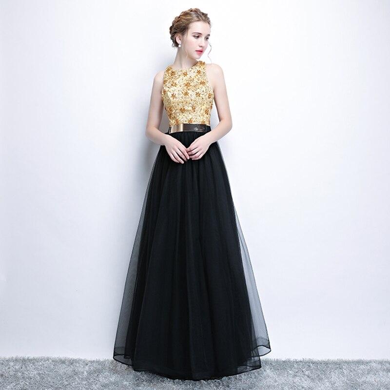 XS4 crna elegantna duga formalna posebna prilika majka mladenke - Haljina za posebne prigode - Foto 4