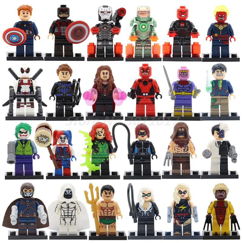 Marvel Super Heroes Figures Black Panther Winter Soldier Captain America Ironman War Machine Building Blocks heroes