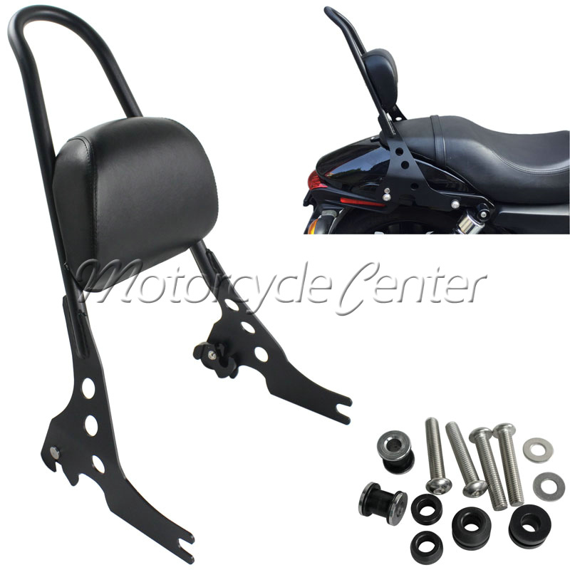 Motorcycle Sissy Bar Luggage Rack Detachable Rear seat Passenger Backrest Pad For 2015-2016 Harley Street 750 500 XG 15 16